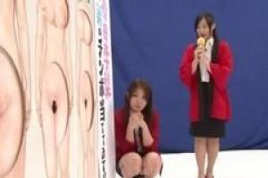азиатские леди участвуют в шоу в прямом эфире и трахаются перед камерой